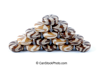 Chocolate-creamy of a sweet sugar candies