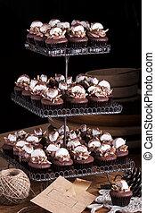 chocolate, cupcakes, com, marshmallow