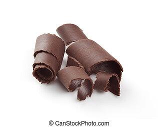 Chocolate curls