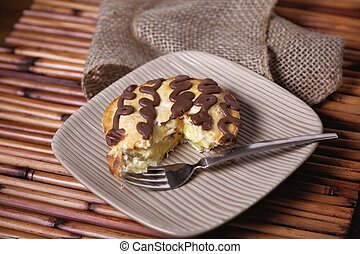 chocolate custard pie