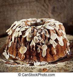 chocolate, delicioso, pastel