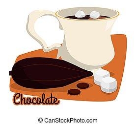Chocolate design. - Chocolate digital design, vector...