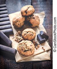 chocolate, doce, biscoitos