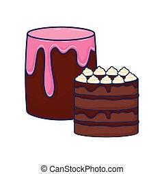 chocolate, doce, bolos