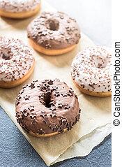 chocolate, doce, donuts