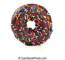 chocolate donut isolated