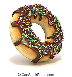 Chocolate donut with sprinkles