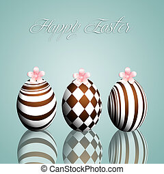 Chocolate eggs for Happy Easter
