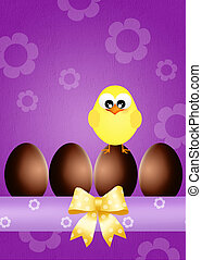 chocolate eggs - illustration of chocolate eggs