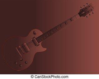 Chocolate Electric Guitar