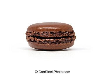 Chocolate flavored macaroon