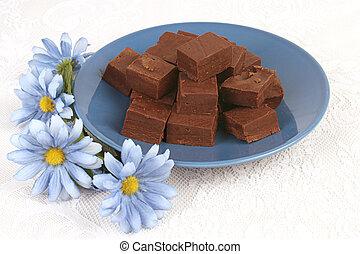 chocolate, &, flores