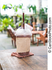 chocolate frappe in cafe