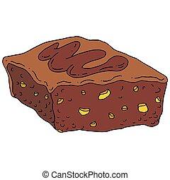 Chocolate Fudge Brownie - An image of a chocolate fudge...