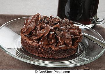Chocolate fudge brownie