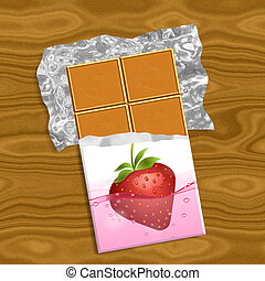 Chocolate generated texture background