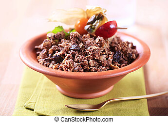 Chocolate granola cereal