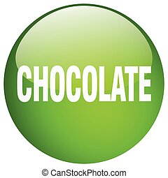 chocolate green round gel isolated push button