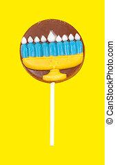 Hanukkah Lollipop
