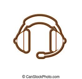 Chocolate headphones icon