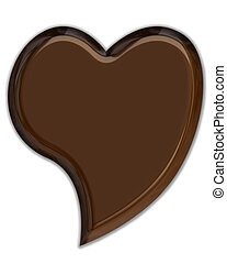 Chocolate Heart - Chocolate 3D heart