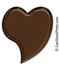Chocolate Heart - Chocolate 3D heart