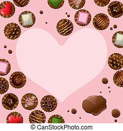 Chocolate heart frame