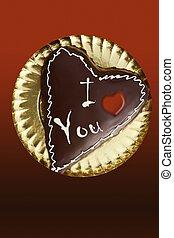 chocolate heart shape cake valentine day