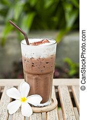 chocolate., helado