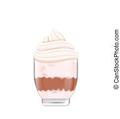 Chocolate Ice Cream with Isolated