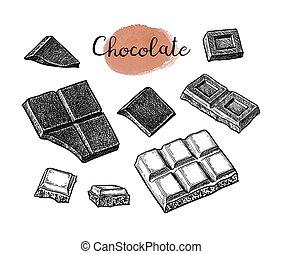 Chocolate ink set.