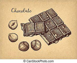 Chocolate ink sketch.