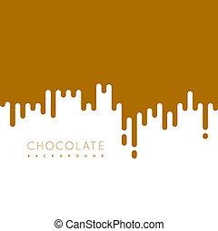 Chocolate irregular rounded lines background. illustraion