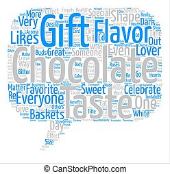 Chocolate Is Great Word Cloud Concept Text Background