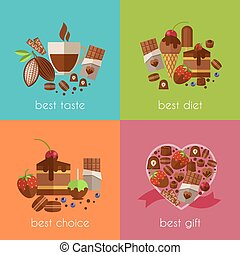 Chocolate is the best diet banners