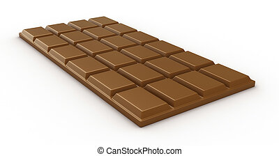 Chocolate - Isolated chocolate bar on white background