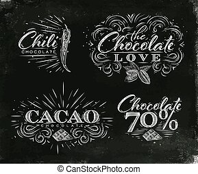 Chocolate labels collection black - Chocolate labels...