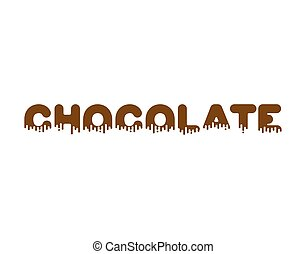 Chocolate Liquid lettering sign. sweetness alphabet. Sweet viscous ABC sign