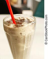 Chocolate Malt Milkshake - Traditional chocolate malt...