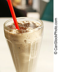 Chocolate Malt Milkshake - Traditional chocolate malt...