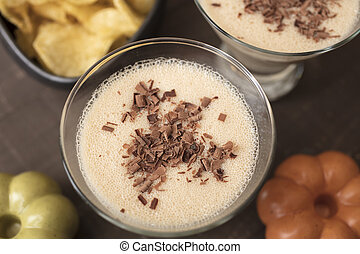 Chocolate Martini of Milk, Amaretto, Coffee and Hazelnut Liqueur Drink