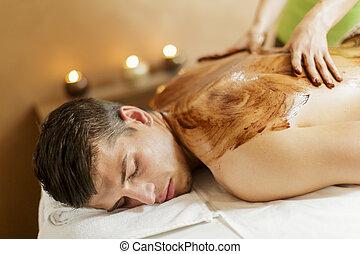 chocolate, massagem