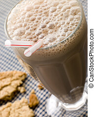 Chocolate Milkshake With A Cookie