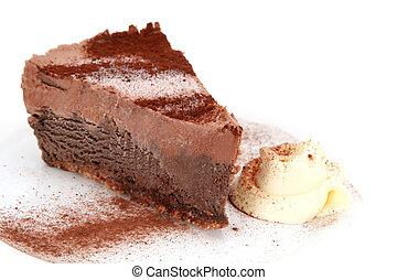 Chocolate Mousse Cake - Chocolate mousse cake with fresh...