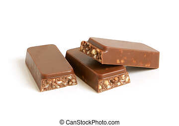 chocolate, nueces, pedazos