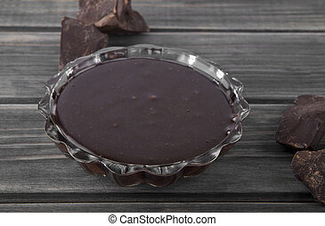 chocolate on a wooden background