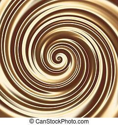 Chocolate or coffee milk cocktail spiral texture - Creamy ...