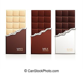 Chocolate Package Bar Blank. Vector