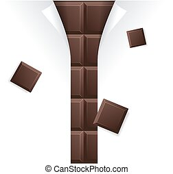 Chocolate Package Blank for Advertizing. Vector