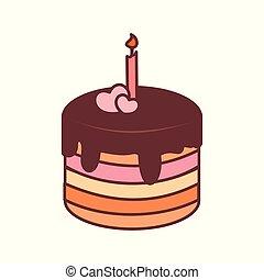 Chocolate Pancake Birthday Vector Illustration Graphic